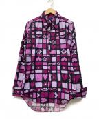 JUNYA WATANABE MAN(ジュンヤワタナベマン)の古着「シャツ」 ショッキングピンク