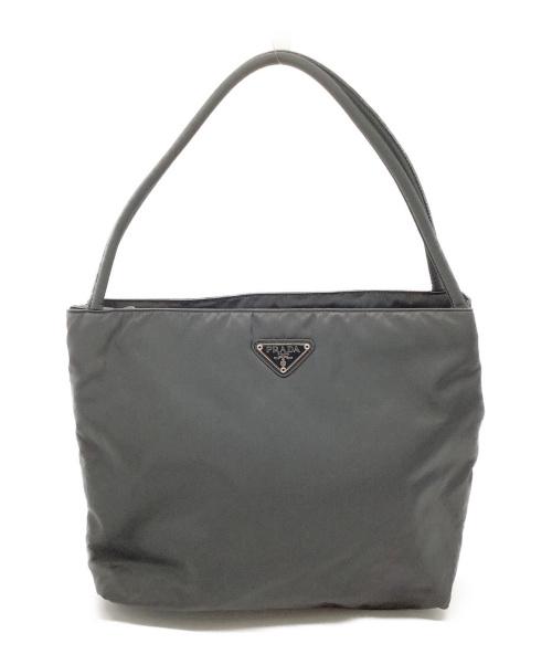 PRADA(プラダ)PRADA (プラダ) ハンドバッグ グレーの古着・服飾アイテム