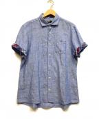 BLACK LABEL CRESTBRIDGE()の古着「半袖シャツ」 ブルー