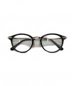 KANEKO OPTICAL(金子眼鏡)の古着「伊達眼鏡」 ブラック×ゴールド