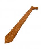 HERMES()の古着「ネクタイ」|オレンジ