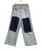 BONUM(ボナム)の古着「リメイクデニムパンツ」|インディゴ