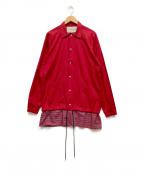 Casely-Hayford(ケイスリーヘイフォード)の古着「コーチシャツジャケット」|レッド