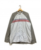 Casely-Hayford(ケイスリーヘイフォード)の古着「ドッキングスウェットシャツ」|ブルー×グレー