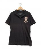 HYDROGEN(ハイドロゲン)の古着「ポロシャツ」 ブラック