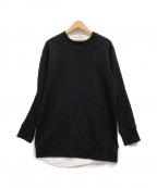 Casely-Hayford(ケイスリーヘイフォード)の古着「切替カットソー」|ブラック