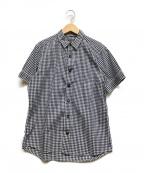 BEAMS()の古着「半袖シャツ」|ホワイト×ブラック