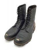 ()の古着「ブーツ」 ブラック×ブラウン