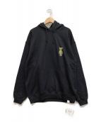()の古着「プルオーバーパーカー」 ブラック
