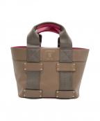 A.D.M.J.(エーディーエムジェイ)の古着「ハンドバッグ」|ブラウン×ピンク