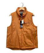 BURBERRY BLACK LABEL(バーバリーブラックレーベル)の古着「中綿ベスト」 オレンジ