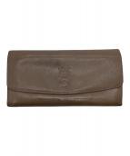 ()の古着「長財布」|ブラウングレー