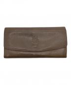 IL BISONTE(イルビゾンテ)の古着「長財布」|ブラウングレー