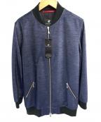 LOVELESS(ラブレス)の古着「ロング丈ボンバージャケット」 ブルー