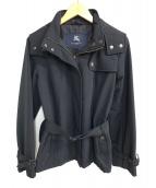 BURBERRY LONDON(バーバリーロンドン)の古着「中綿フーディジャケット」|ブラック