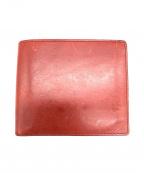 cuoio italiano(クォイオイタリアーノ)の古着「2つ折り財布」 レッド