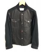 Calvin Klein platinum(カルバン・クライン プラティナム)の古着「レザージャケット」|ブラック