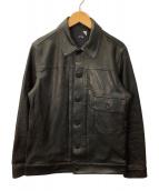 ATON(エイトン)の古着「レザージャケット」|ブラック