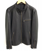 JOSEPH HOMME(ジョセフ オム)の古着「レザージャケット」|ブラック