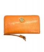 SAN HIDEKI MIHARU(サン ヒデアキ ミハラ)の古着「ラウンドファスナー財布」|オレンジ