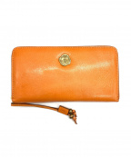 SAN HIDEKI MIHARU(サン ヒデアキ ミハラ)の古着「ラウンドファスナー財布」 オレンジ