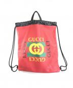 GUCCI(グッチ)の古着「バッグ」 レッド×ブラック