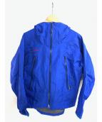 MAMMUT(マムート)の古着「サンダーストームレインスーツセットアップ」|ブルー×ブラック