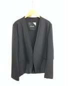 ATON(エイトン)の古着「ノーカラージャケット」|ブラック