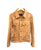 JACKROSE(ジャックローズ)の古着「レザージャケット」|キャメル