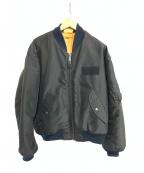 AVIREX(アヴィレックス)の古着「フライトジャケット」 ブラック