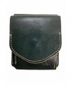 革蛸謹製(カワタコキンセイ)の古着「2つ折り財布」|グリーン