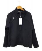 DESCENTE(デサント)の古着「フルジップ ハイブリッド ニットジャケット」|ブラック