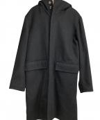 EDIFICE(エディフィス)の古着「カシミヤメルトンラビットファーコート」 ブラック