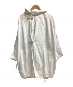 Yarmo(ヤーモ)の古着「デニムフーディコート」 ホワイト