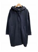 super.natural(スーパーナチュラル)の古着「フーデッドコート」 ネイビー