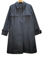 MARGARET HOWELL(マーガレットハウエル)の古着「ライナー付ステンカラーコート」|ネイビー