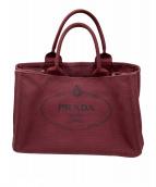 PRADA(プラダ)の古着「2WAYハンドバッグ」|ボルドー