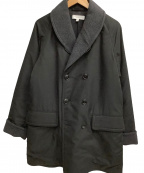 BEAUTY&YOUTH(ビューティアンドユース)の古着「Wフェイスマッキーノコート」 ブラック×グレー