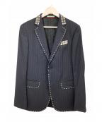 MOSCHINO(モスキーノ)の古着「スタッズテーラードジャケット」|ネイビー