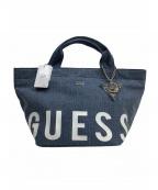 GUESS(ゲス)の古着「ロゴデニムハンドバッグ」|ブルー