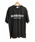 BURBERRY LONDON ENGLAND(バーバリー ロンドン イングランド)の古着「ロゴプリントコットンTシャツ」 ブラック