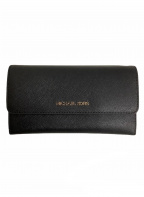 MICHAEL KORS(マイケルコース)の古着「三つ折り長財布」|ブラック