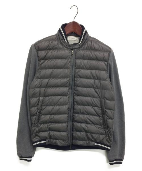 MONCLER(モンクレール)MONCLER (モンクレール) ダウンジップトレーナー グレー サイズ:Lの古着・服飾アイテム