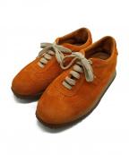 HERMES(エルメス)の古着「クイックスニーカー」|オレンジ