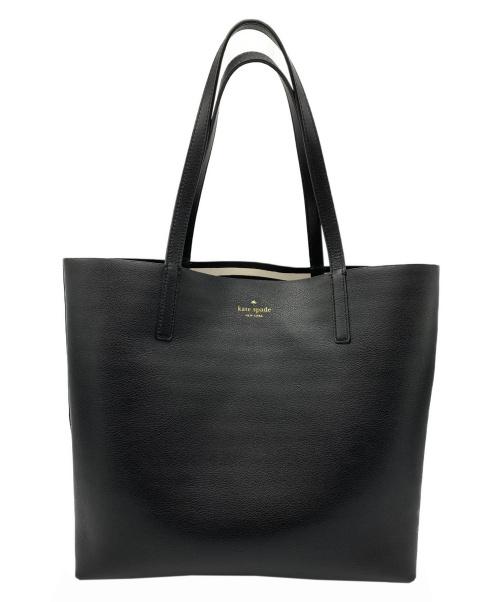 Kate Spade(ケイトスペード)Kate Spade (ケイトスペード) リバーシブルトートバッグ ブラック×ホワイト WKRU5431の古着・服飾アイテム