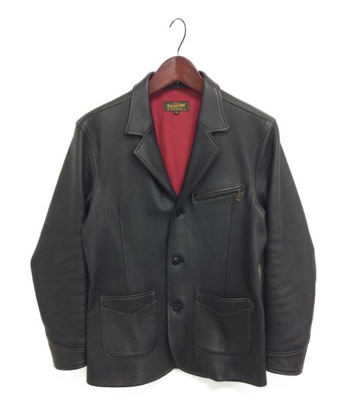 THE FLAT HEAD(ザ・フラットヘッド)THE FLAT HEAD (ザフラットヘッド) レザージャケット ブラック サイズ:38 ディアスキンの古着・服飾アイテム