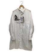 YOHJI YAMAMOTO(ヨウジヤマモト)の古着「W-ITS ONLYシャツ」|ホワイト