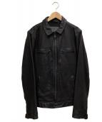 ALL SAINTS(オールセインツ)の古着「レザーライダースジャケット」 ブラック