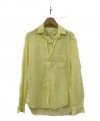 Frank&Eileen(フランクアンドアイリーン)の古着「オープンカラーシャツ」 イエロー