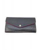 ()の古着「長財布」|ブラック×ピンク